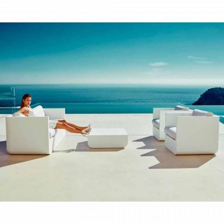 Conjunto de sala de estar ao ar livre branco Vondom Ulm, design moderno