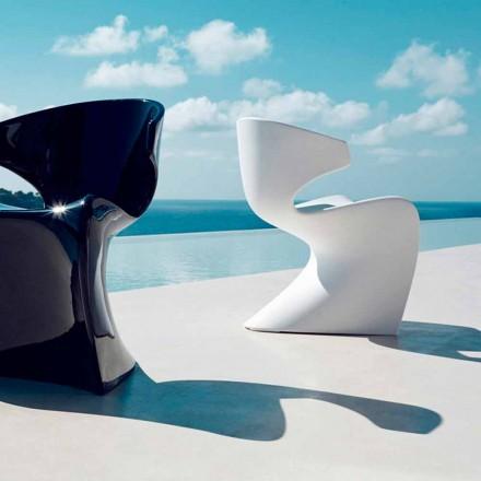 Poltrona moderna ao ar livre de asa de Vondom feita de polietileno, 50x56xH74 cm